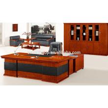 Mesa de escritório de folheado de móveis de gama alta para chefe / presidente