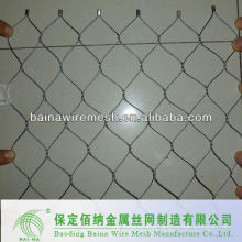 hand woven stainess steel knotted mesh