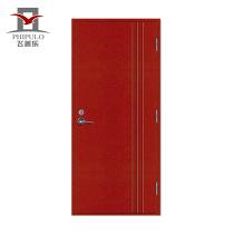 Porte évaluée résistant à la sortie en acier évalué résistant au feu d'appartement, porte anti-feu en acier