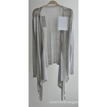 Long Sleeve Opean Patterned Knitwear Cardigan for Ladies