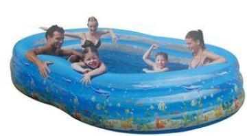 Double Deck PVC Inflatable Swimming Pools Comfortable For A