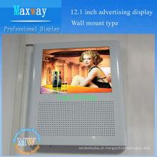 """design agradável 12 """"monitor montado na parede do elevador lcd"""