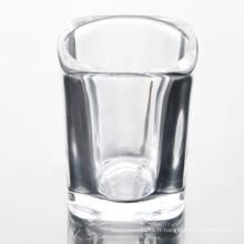 Verre à vin en cristal carré en gros ensemble de verre