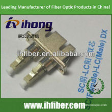 SC hembra LC macho adaptador de fibra dúplex
