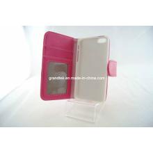 Caixas da carteira do plutônio do couro do malote do produto novo para iPhone5c, casos do telefone móvel (RAIN-20130914-01)