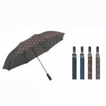 2 Folding Pongee Fabric Umbrella Automatic