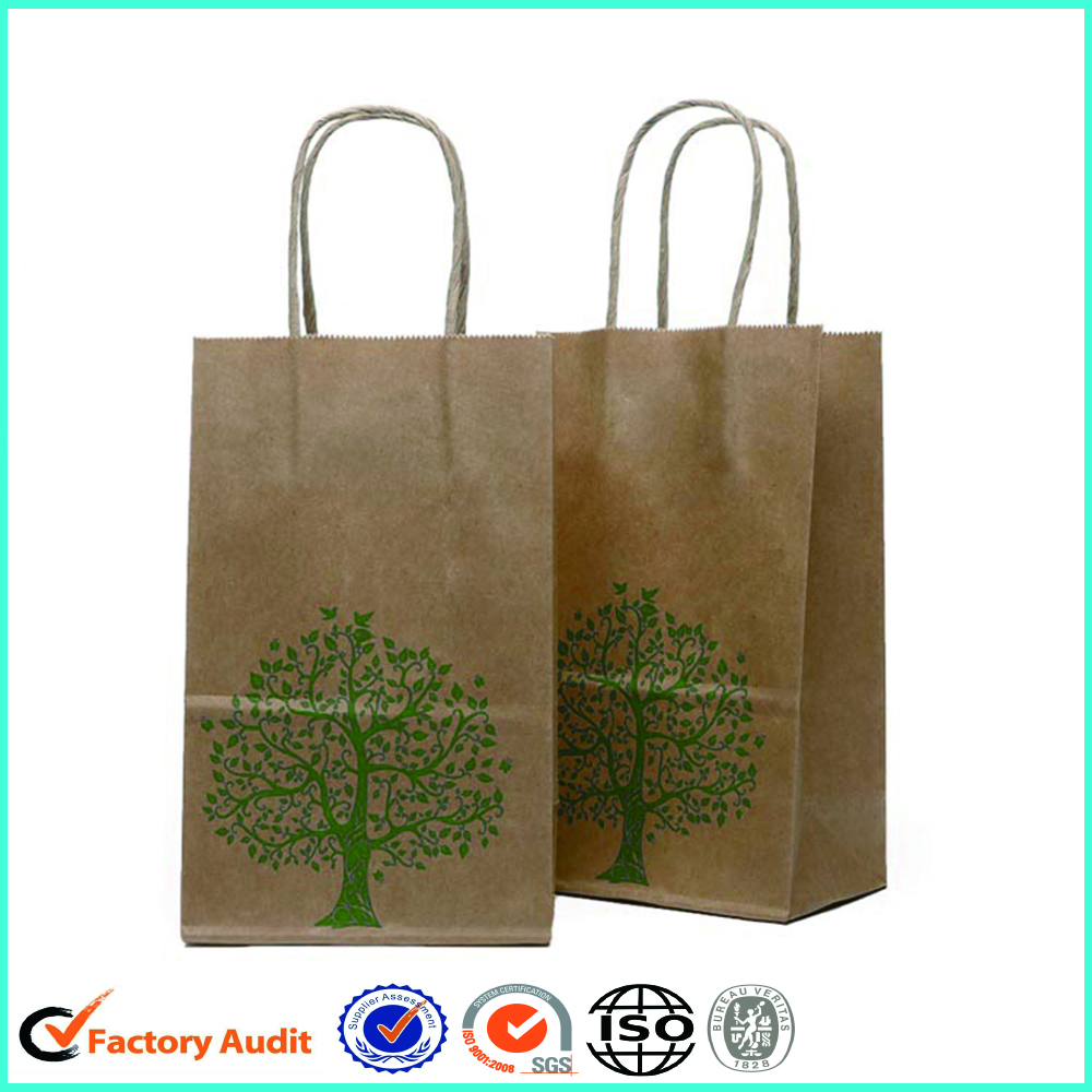 Brown Kraft Paper Bags Custom Logo