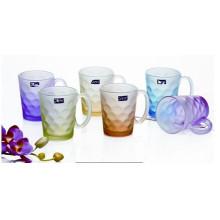 Mattglas Tasse Glas Tasse mit Abziehbild Kb-Jh06202