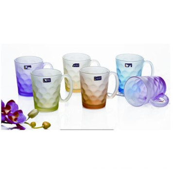 Frosted Glass Cup Glass Mug with Decal Kb-Jh06202