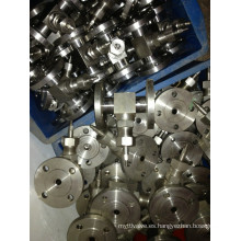 Válvula de aguja con brida de acero inoxidable (J14W-3000PSI)