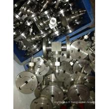 Vanne à aiguille à bride en acier inoxydable (J14W-3000PSI)