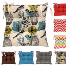 Красочные подушки сиденья столовая садовая кухня стул галстук подушки