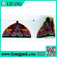 Mariposa maravillosamente coloreada, película de transferencia de calor para la cabeza de la escoba