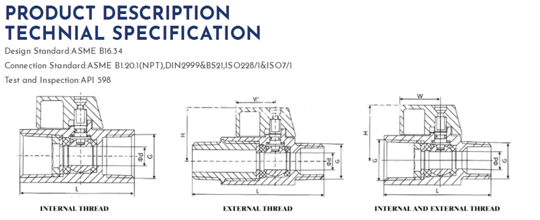 sanitary mini ball valve DIN