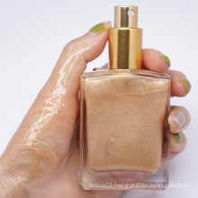 5 Colors Custom Logo Wholesale Waterproof Liquid Face body Liquid Highlighter Private Label Makeup