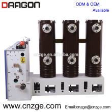 Disyuntor de alto voltaje interior 1250A del vacío de alto voltaje de ZN63A-12 12kv
