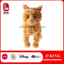 En71 Passou Stuffed Animal Toy Pelúcia Macia Tabby Cat