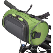Bike Handlebar Bag,Waterproof Bike Basket Bicycle Front Storage Bag with Transparent Pouch Touch Screen and Removable Straps