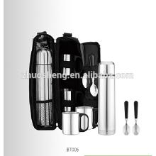 Edelstahl-Vakuum-Kolben-Geschenk-Set mit Löffel