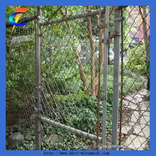 ПВХ и гальванизированный цепной забор