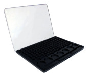 Fashion Accessories 120 colours plastic empty eyeshadow pallet