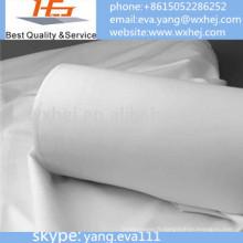 Tissu blanc en gros de tissu de lit de tissu d'usine d'usine