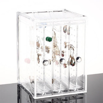 Caja de exhibición de acrílico de la joyería de la publicidad para el pendiente