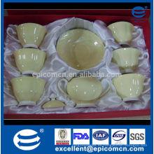 Regalo de la venta de la promoción de té conjunto de té de hueso vasos y platillos