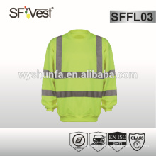 sweatshirt high visibility relecitve safety clothing ,100% polyester fleece , EN ISO 20471 CLASS 3