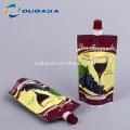 Sac de poche d'emballage de vin rouge de 250 ml avec bec verseur