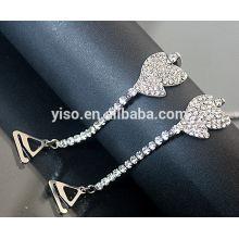 Cintas de sutiã com jóias