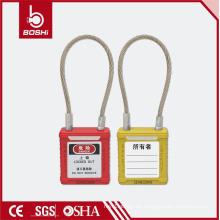 Osha China Brady OEM / ODM CE Zertifizierung ABS Kabel Sicherheit Vorhängeschloss BD-G42