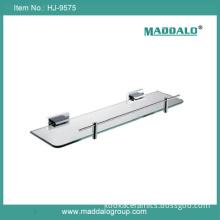 Square Shape Single Layer Glass Bathroom Shelf (HJ-9575)