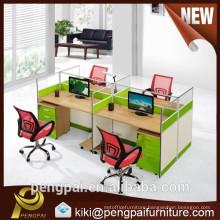 Green office workstation layout staff work desks with price