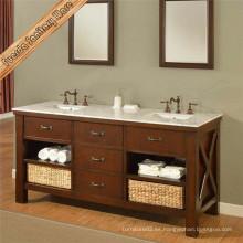 Gabinete de muebles de baño impermeable clásico directo de la fábrica