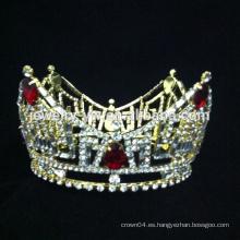 Corona cristalina del desfile de la belleza de la tiara cristalina al por mayor de la boda