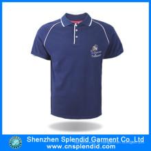 Camisas de polo respirável do algodão dos homens do fato da forma com logotipo