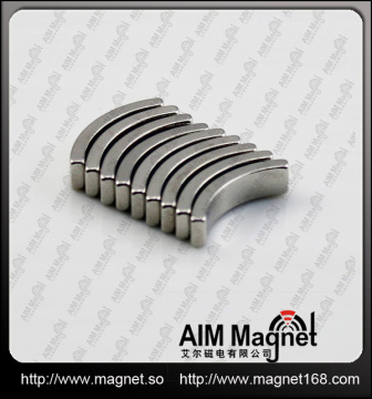 Strong arc shape neodymium magnets