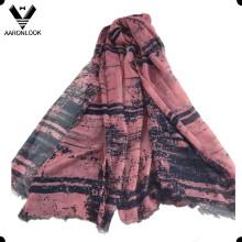 Женская абстрактная чернильная печать 100% Модальный легкий шарф