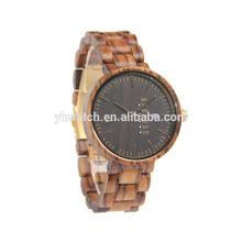 Mens de alta qualidade relógios de madeira de bambu relógios japanses movimento
