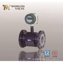 Válvula de bola embridada con revestimiento de PTFE