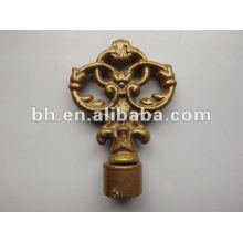 Hot sell Aluminum Iron metal twisted curtain rod finials