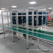 Línea de ensamblaje del sistema automático del transportador de cinta