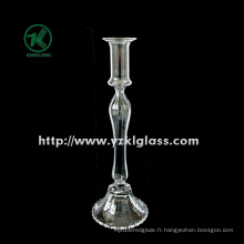 Porte-bougie en verre pour table avec poste unique (DIA9.5 * 29)