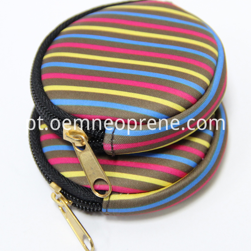 Neoprene coin purses