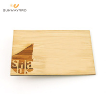 Cartões de visita de madeira de 13.56Mhz RFID