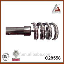 antique copper telescopic curtain rods/glass curtain rod finials/telescopic baton 16/19 25/28mm