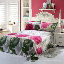 3d conjuntos de conjuntos de 2017 la última primavera actividad impresa cama productos estilo rosa perla cama cuatro conjuntos BS16