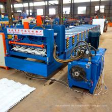 XN-828 Servomotor Lichtbogen Alu Zink Aluminium Rahmen Deckenplatte antike Metall Fliesenplatte Panel glasierte Dachziegel, die Maschine