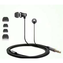 black color In-ear Wire Earphone